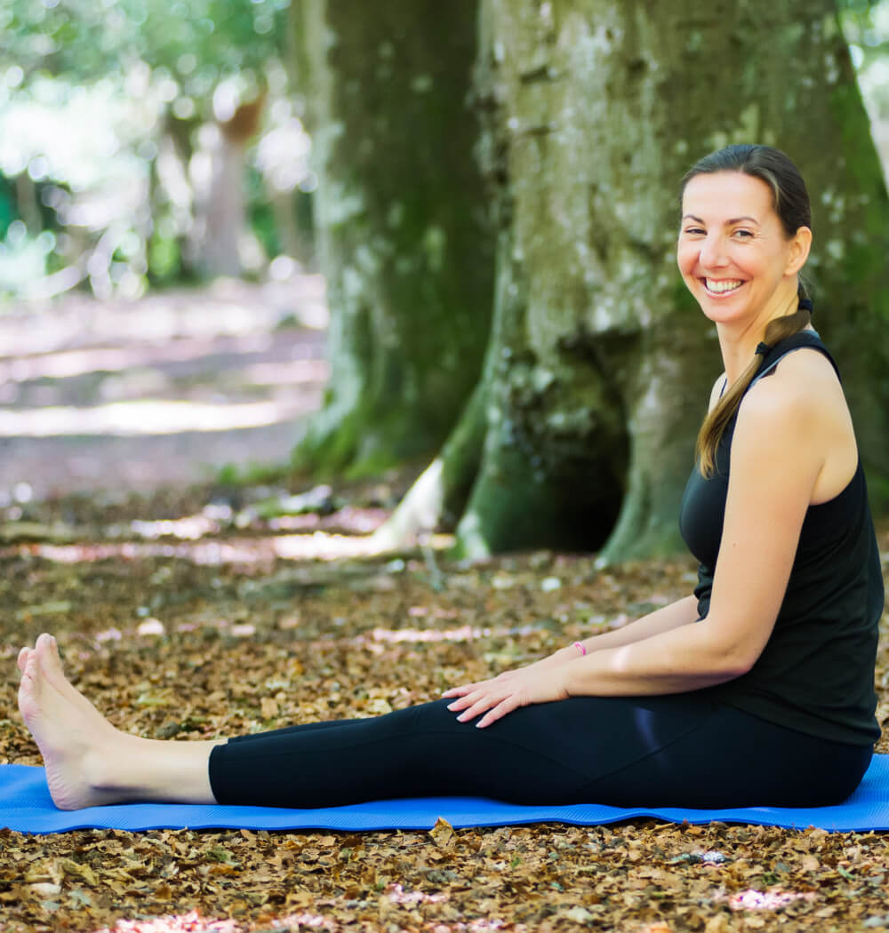 Yoga teacher Angela Keen portrait smiling