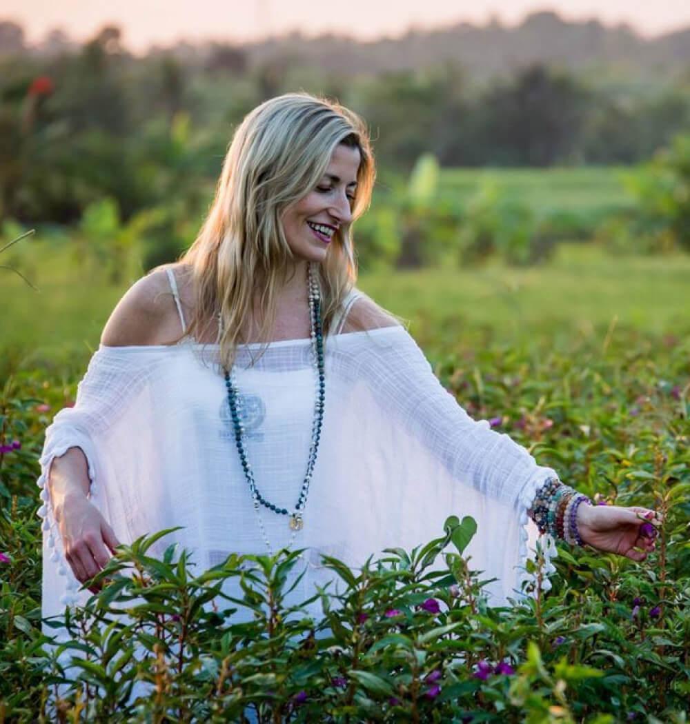 Yoga teacher Marta Antero in nature