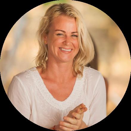 Yoga teacher Jenna Naik laughing