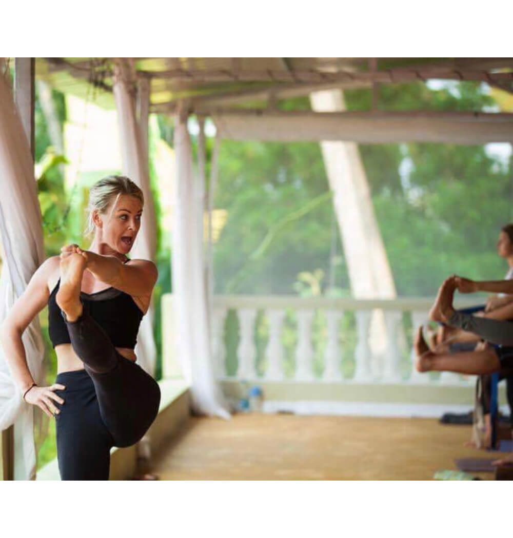 Yoga teacher Jenna Naik teaching Ashtanga yoga