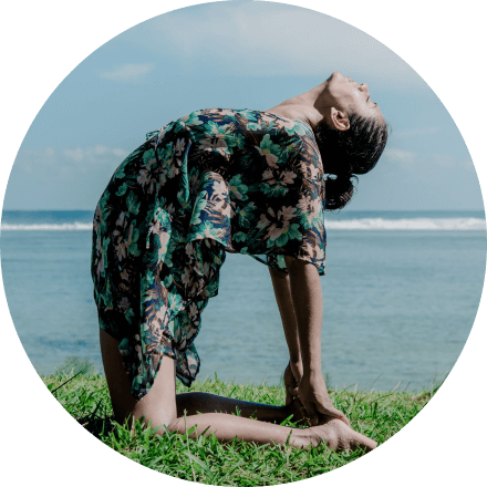 Yoga Mapp founder Shruti Srivastava in camel pose