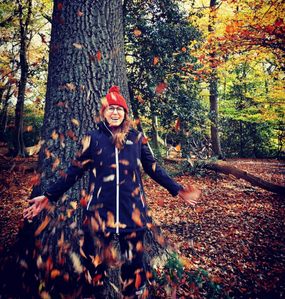 Women's Circle Facilitator Sophie Blackman in the forest